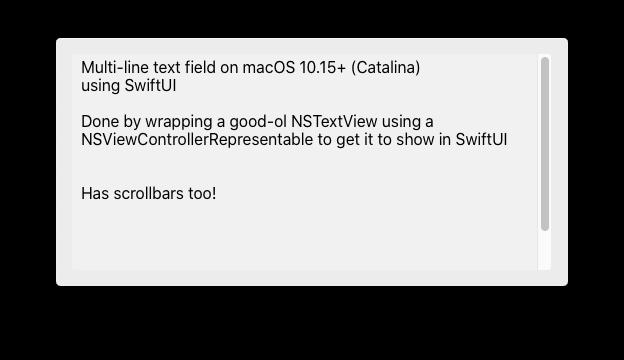 screenshot showing a multi-line text field inside a macOS window