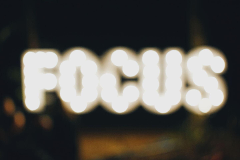 turned on Focus signage